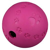 7cm Natural Rubber Snack Ball Dog Treat Toy with Inner Labyrinth and Opening