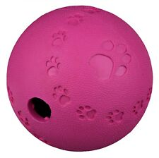 6cm Natural Rubber Snack Ball Dog Treat Toy with Inner Labyrinth and Opening