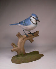"9-1/2"" Blue Jay Original Bird Wood Carving/Birdhug"