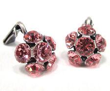SoHo® Ohrringe Ohrclips Blume mit Kristall Strass ss24 light rose clips rosa