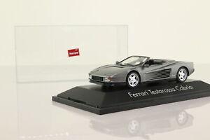 Herpa; Ferrari Testarossa Cabrio; Gunmetal Grey; Very Good Boxed