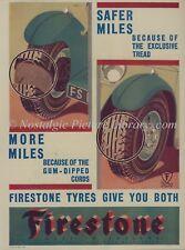 ORIG MAGAZINE ADVERT  FOR FIRESTONE TYRES  1932