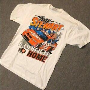 Vintage Nascar Racing Tony Stewart T-Shirt Unisex Sport Tee S-5XL 100% Cotton