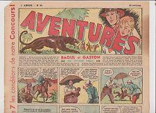 AVENTURES 1ère année 1936. n°34 - 24 novembre 1936.