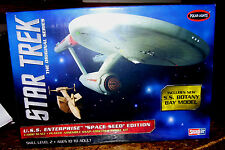 STAR TREK USS ENTERPRISE 1701 1/1000 SCALE SNAP KIT Space Seed Edition NEW 2013