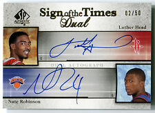 2005-06 SP Sign of the Times NATE ROBINSON LUTHER HEAD Dual Auto RC Rare #/50