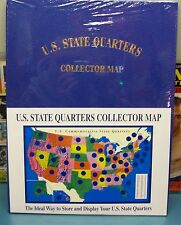 1999-08 US STATE QUARTERS COIN COLLECTORS MAP OF USA WITH  ALL 50 STATE QUARTERS