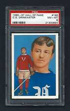 PSA 8 C.G. DRINKWATER 1985 HALL OF FAME HOCKEY CARD #186