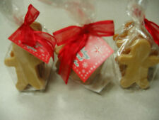 Gingerbread men decorative soap gift wrapped for Christmas