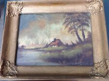 Landscape painting 20th century Antique painting on canvas signed