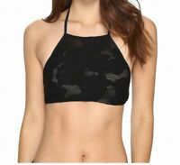 Amuse Society Womens Swimwear Black Small S Freesea Crochet Bikini Top $88 084
