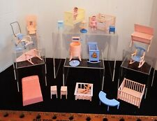 Vintage Renwal Hard Plastic Dollhouse Pink & Blue Furniture Glo-Lamp lot