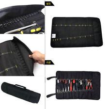 Black Car Service Hardware Tool Roll Plier Spanner Case Pouch Bag Reels Pocket