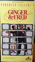 Ginger & Fred (VHS) 1986 Fellini stars Marcello Mastroianni; English subtitles