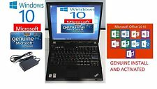 IBM LAPTOP LENOVO T61 WIN 10 LAPTOP WIFI 320GB HDD CDRW DVD Word 2016, Xcel,PPT