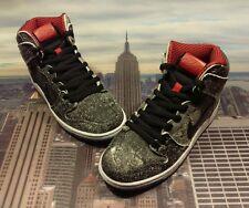 Nike Dunk High Premium SB Salt Stain Black/Red Men's Size 7 Low Mid 313171 024
