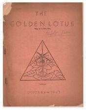 William J LESLIE / The Golden Lotus Vol 4 October 1947 First Edition