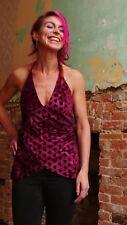 Women's Tie Velvet backless Halter Neck Top hippy boho alternative festival