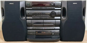 VINTAGE SONY COMPACT HIFI STEREO SYSTEM RADIO CASSETTE COMPACT DISC HCD-N255