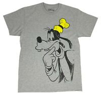 Men's Disney T Shirt Goofy Thinking Distressed Graphic Tee Disneyland