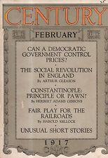 1917 Century February - Oliver Herford; Henrik Ibsen; Mrs. Fiske; Constantinople
