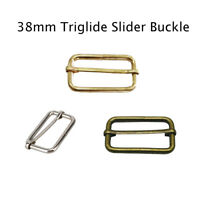 38mm Webbing Straps Adjuster Metal Sliding Bar Buckles For Luggage Accessories