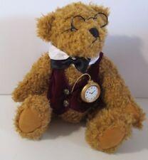 "Dan Dee Collector's Choice Teddy Bear Plush 14"" Glasses Vest Bowtie Pocket Watch"