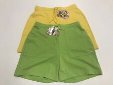 COPPER KEY 2 PAIR SHORTS BUNDLE YELLOW GREEN COTTON 2 POCKETS JUNIORS 14 NWT