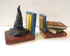 Harry Potter Sorting Hat Potion Spell Books Book Ends Ceramic Enesco 823260