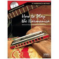 """HOW TO PLAY THE HARMONICA"" MUSIC BOOK/CD-SANTORELLA METHOD BRAND NEW ON SALE!!"