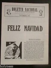 BOLETIN NACIONAL / PARTIDO NACIONALISTA DE PUERTO RICO / NEWSLETTER / DEC 1981