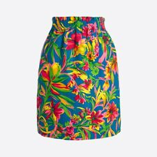 J.Crew Printed Linen Cotton Sidewalk Mini Skirt Size 00 New with Tags