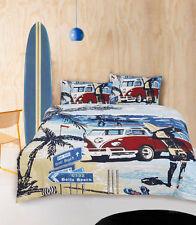 ARDOR RETRO SUMMER Split Screen Kombi King Size Bed Doona Duvet Quilt Cover Set