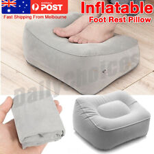 AU Inflatable Foot Rest Travel Air Pillow Cushion Office Leg Up Footrest Relax
