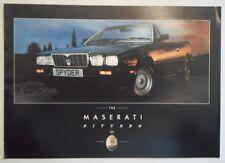 MASERATI BITURBO SE orig 1980s UK Mkt Sales Brochure in English - inc Spyder 425