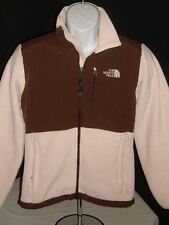 THE NORTH FACE DENALI BROWN/IVORY  FLEECE FULL ZIP JACKET SZ. S