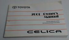Toyota Celica 2001 Owner's Manual Soft Cover