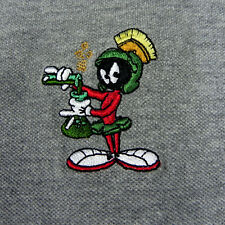 Marvin The Martian Polo Shirt XXL Warner Bros Store Embroidered Marvin Gray