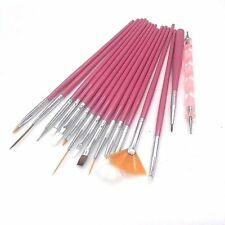 16pcs Nail Art Acrylic UV Gel Design Brush Set Painting Pen Tips Tools kit