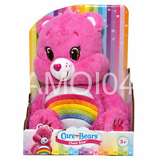 "Care Bears Cheer Bear Rainbow Pink Plush Toy 12"" inch/30cm New"