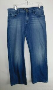 Lucky brand jeans Boone easy rider denim blue womens size 10/30 34x30