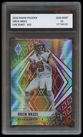 DREW BREES 2020 PANINI PHOENIX FIRE BURST CARD 1ST GRADED 10 NEW ORLEANS SAINTS