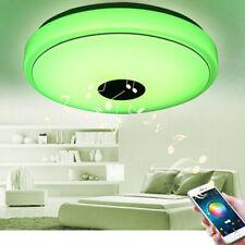 Lámpara Techo Plafón Bluetooth LED Cambio de Color RGB 36W/60W Regulable Altavoz