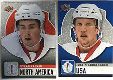 Dylan Larkin #WCH29 & Justin Abdelkader #WCH19 2 2016 UD USA World Cup of Hockey