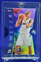 DIRK NOWITZKI E-X ACETATE HOLO REFRACTOR RARE SP DALLAS MAVERICKS FUTURE HOF!