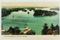Vintage Picturesque America Thousand Islands New York NY Postcard Lake Boats