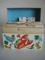 Vintage Ohio Art Lobster Salad Recipe Box with Recipes
