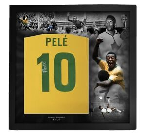 Pele signed Picture Framed Brazil shirt name and number private signing COA £399