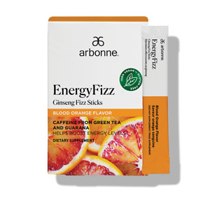 Arbonne Ginseng Energy Fizz Sticks - Blood Orange Flavor #2113