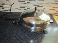 Farberware Electric Skillet 12 inch Fry Pan Model 310-B Stainless Steel Vintage